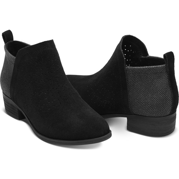 Suede Radial Perforated Deia Booties